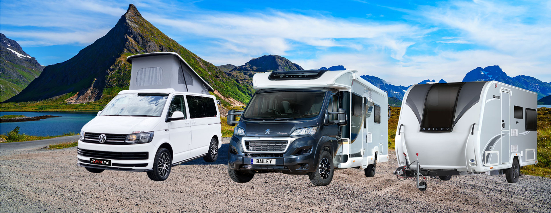 caravans, motorhomes and campervans