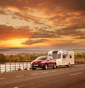 bailey pegasus caravan on road