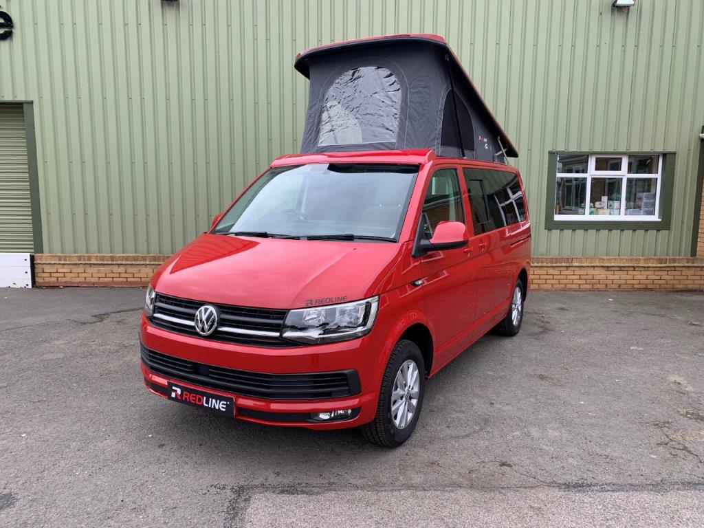 VW T6 Cherry Red Redline Sport Camper (22)