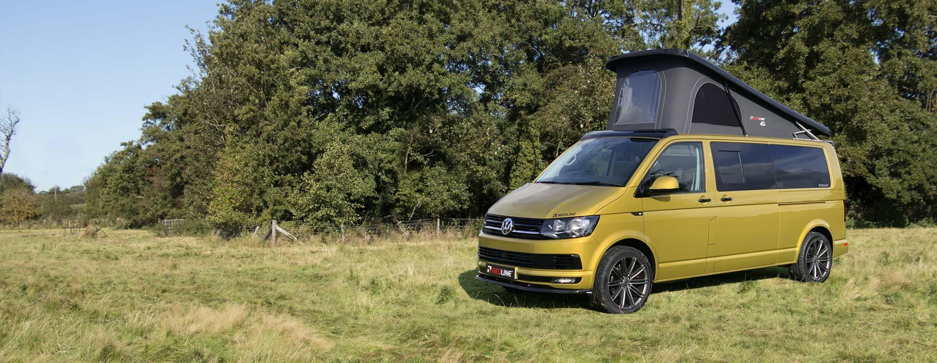 Gold Volkswagen Campervan